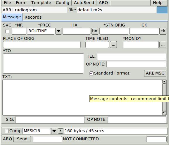 FLMSG Users Manual: FLMSG Users Manual - Version 4 0